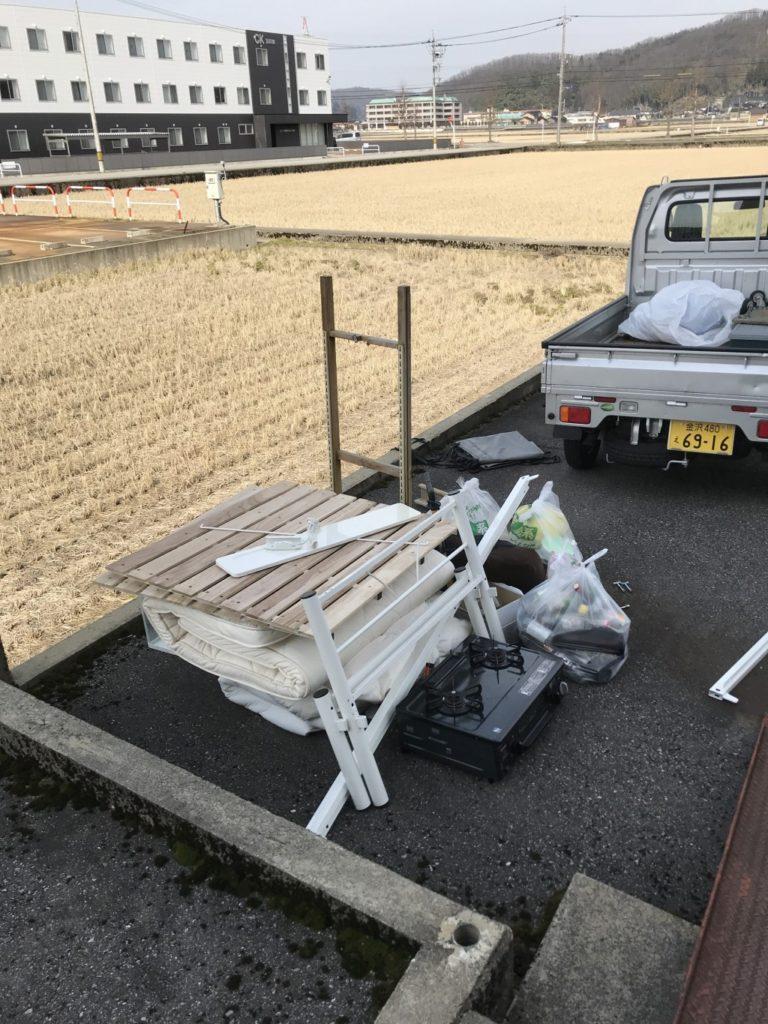 【高岡市守護町】軽トラック一台分の出張不用品回収・処分ご依頼