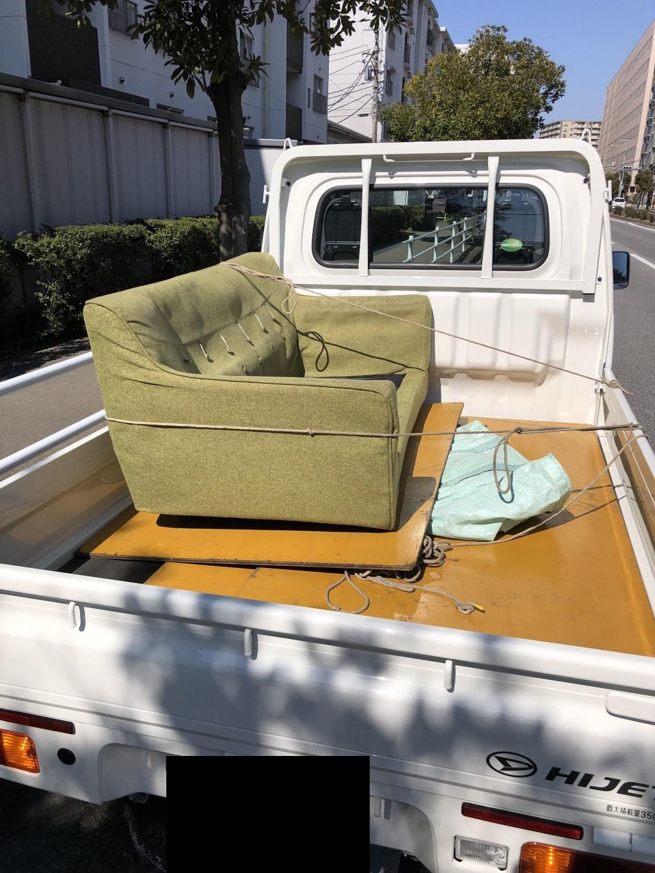 【千葉市美浜区】2人用ソファの不用品回収・処分 お客様の声