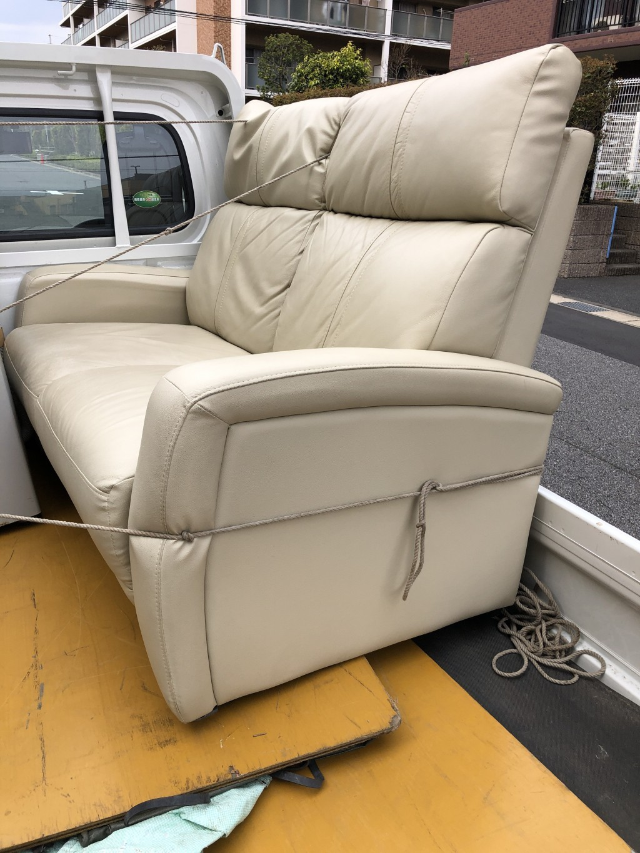 【千葉市中央区】2人掛けソファーの不用品回収・処分ご依頼