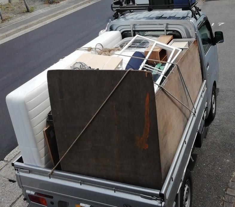 【京都市西京区】軽トラ1台に収まるくらいの不用品回収 お客様の声