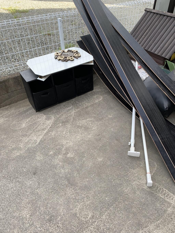 【甲府市岩窪町】折り畳みテーブル、カラーボックスなど少量の出張不用品回収・処分ご依頼