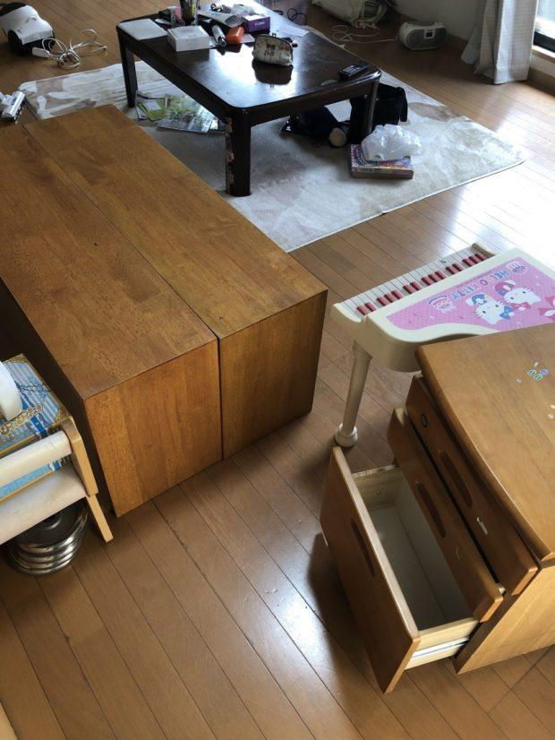 【光市】食器棚、学習机など家財道具の回収 お客様の声