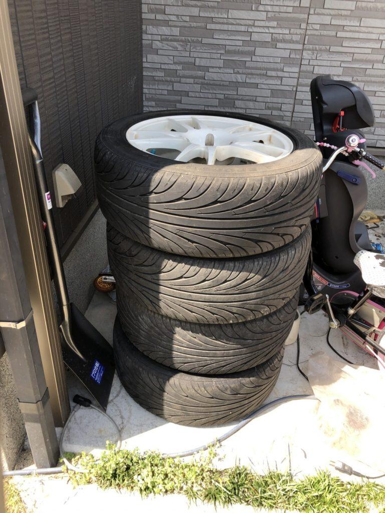【今治市常盤町】タイヤの出張不用品回収・処分ご依頼