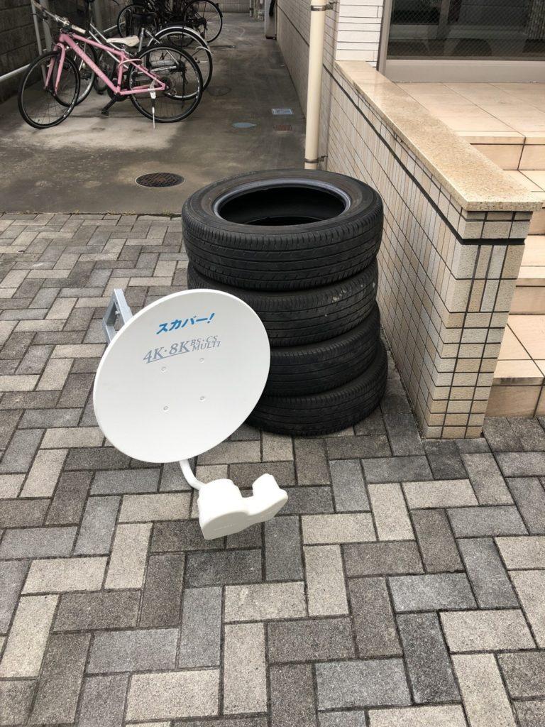 【大分市】自動車のタイヤの出張不用品回収・処分ご依頼 お客様の声