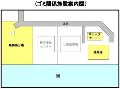 ゴミ関係施設案内図