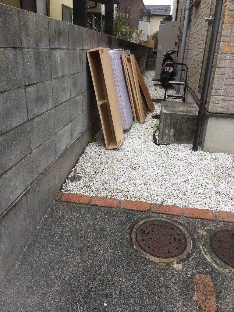 【松山市】シングルマットレス回収のご依頼 お客様の声