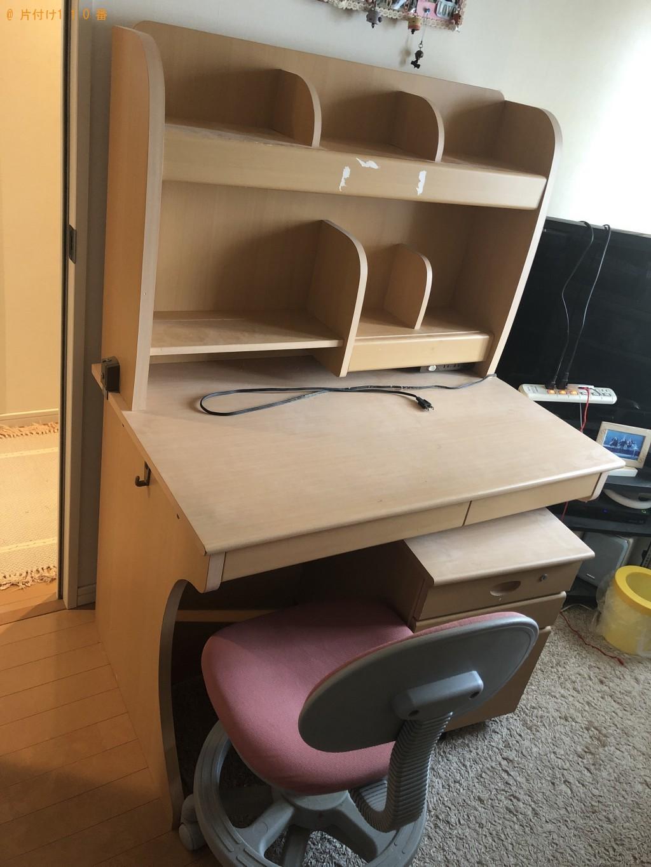 【熊本市中央区】学習机、椅子の出張不用品回収・処分ご依頼