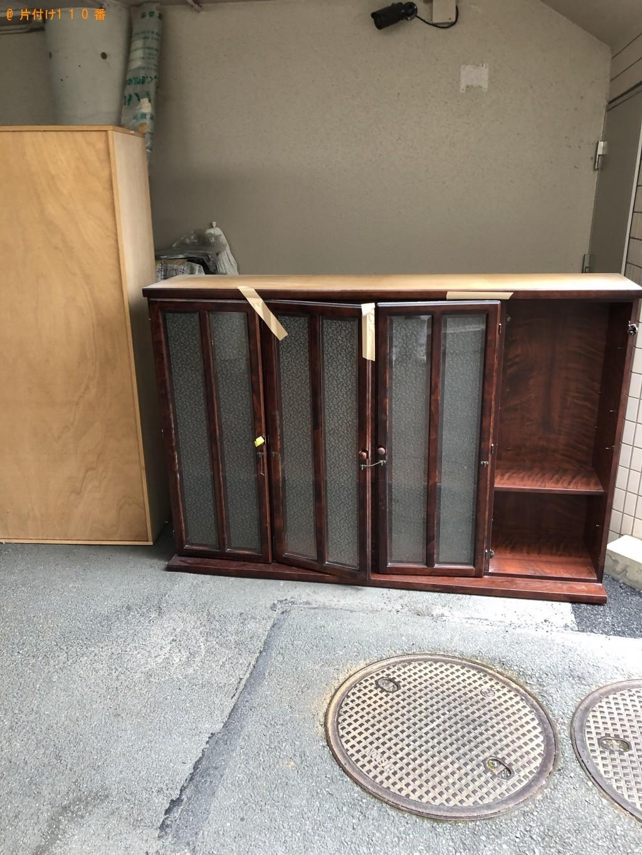 【京都市下京区】プリンター、食器棚、テーブルなどの出張不用品回収・処分ご依頼