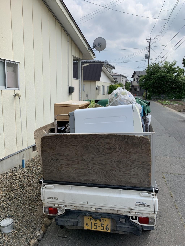【北上市】トラック積み放題パックでの不用品回収 お客様の声