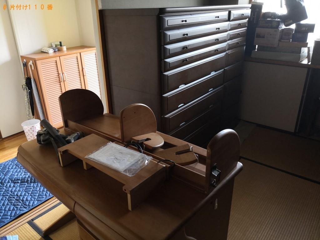 【大阪市鶴見区】婚礼ダンス、食器棚、学習机などの出張不用品回収・処分ご依頼