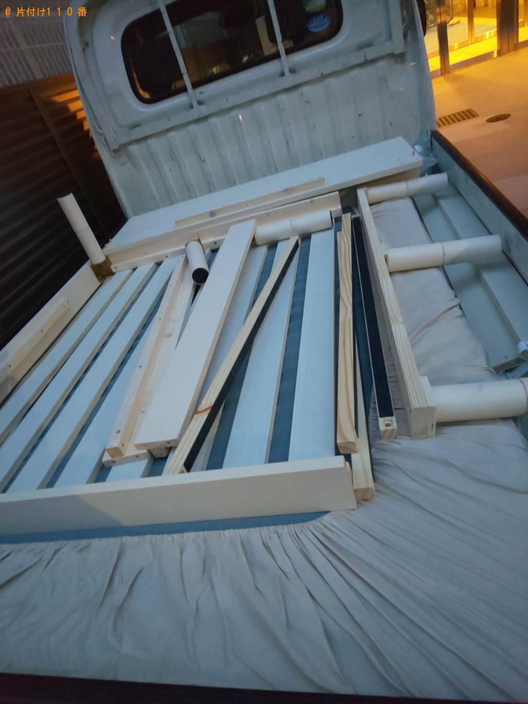 【大阪市】シングルベッドの出張不用品回収・処分ご依頼