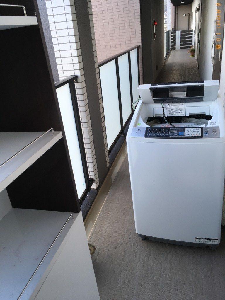 【北九州市小倉北区】洗濯機と収納棚回収のご依頼 お客様の声