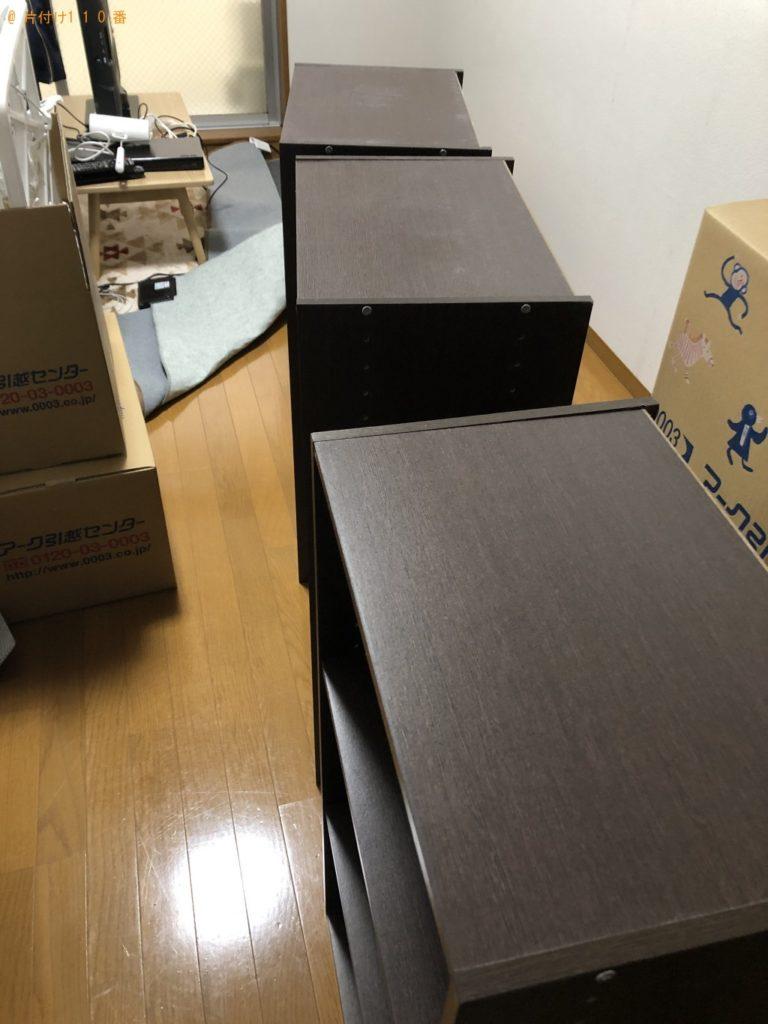 【京都市上京区】カラーボックスとテレビ台の処分 お客様の声