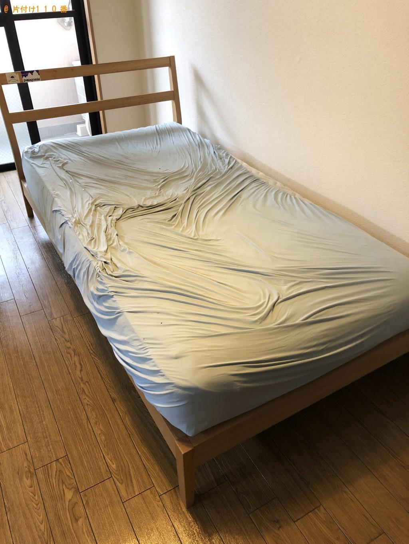 【京都市下京区】テレビ、ベッドなどの出張不用品回収・処分ご依頼