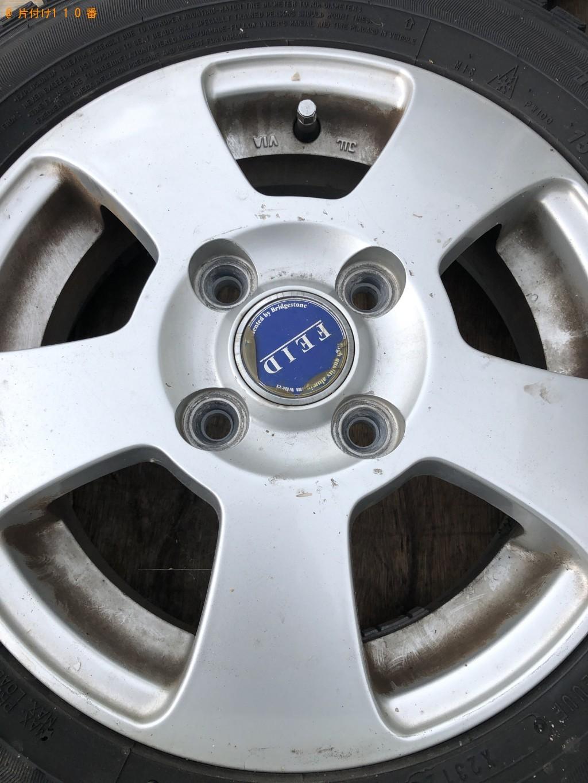 【京都市西京区】ホイール付き自動車タイヤの回収・処分 お客様の声