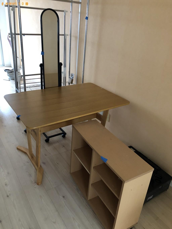 【北九州市戸畑区】食器棚、テーブル、姿見などの出張不用品回収・処分ご依頼