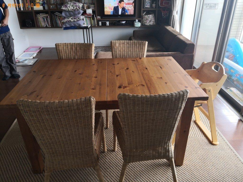 【奈良市】ダイニングテーブルセット、カーペット、椅子の回収・処分 お客様の声
