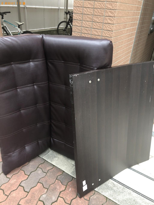 【神戸市中央区】シングルベッドとソファーの回収・処分 お客様の声