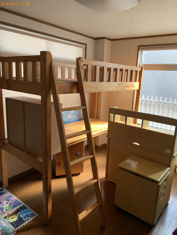 【京都市右京区】シングルベッド、学習机の処分・回収 お客様の声