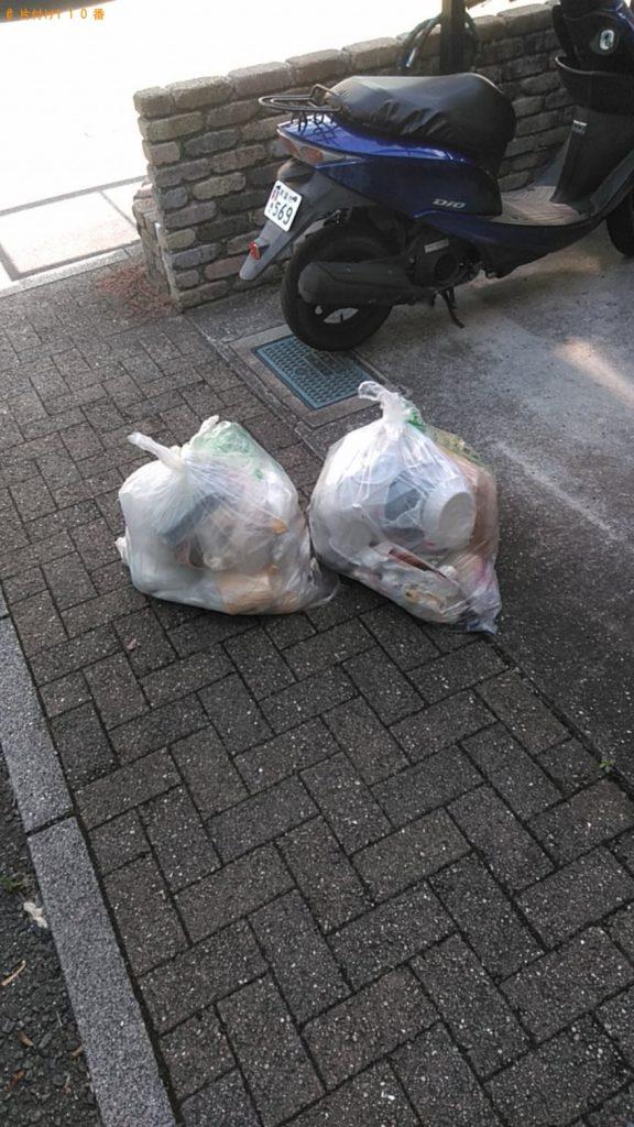 【東温市志津川】袋ごみ2点の出張回収・処分ご依頼 お客様の声