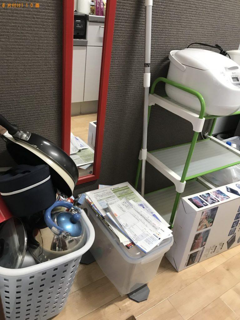 【金沢市若松町】物干し、ラック、食器類の回収・処分 お客様の声