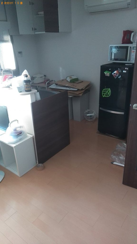 【松山市泉町】セミダブルベッド、ソファー、冷蔵庫等の回収・処分 お客様の声