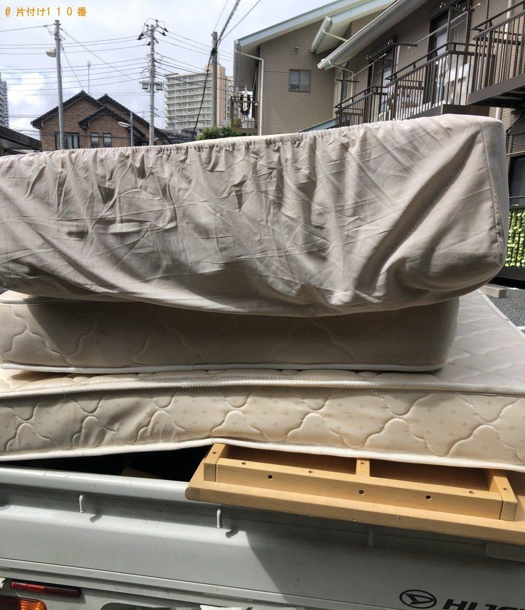 【船橋市本町】セミダブルベッドとセミダブルマットレスの回収・処分 お客様の声