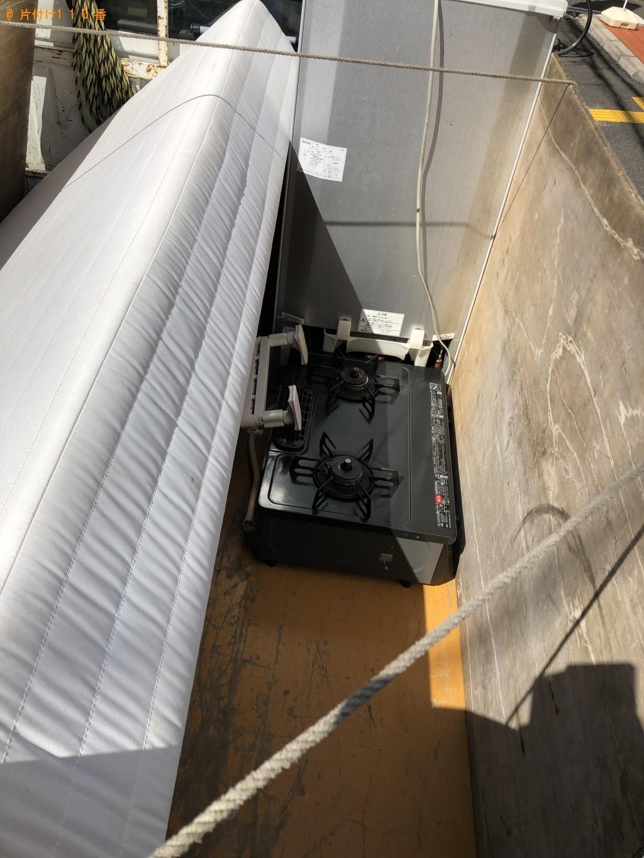 【京都市右京区】シングルベッド、冷蔵庫、ガスコンロ等の回収・処分 お客様の声