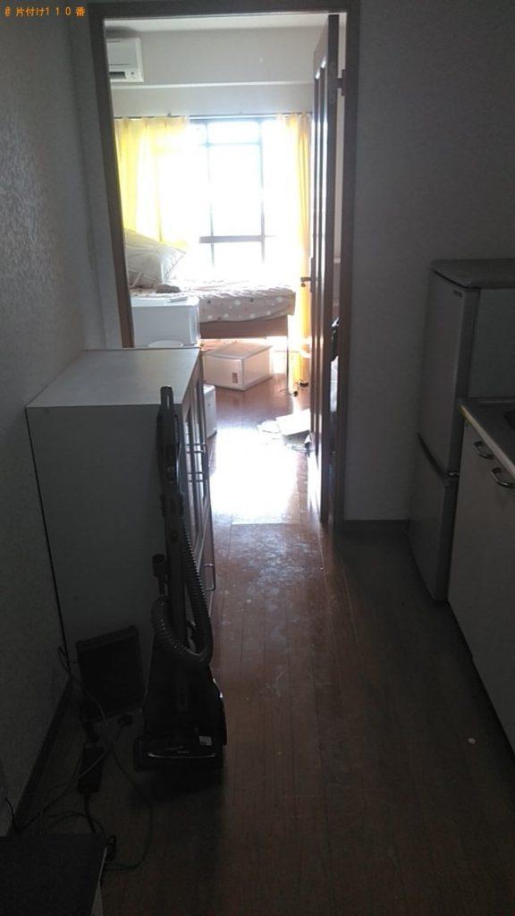 【松山市鷹子町】シングルベッド、冷蔵庫、本棚等の回収・処分 お客様の声
