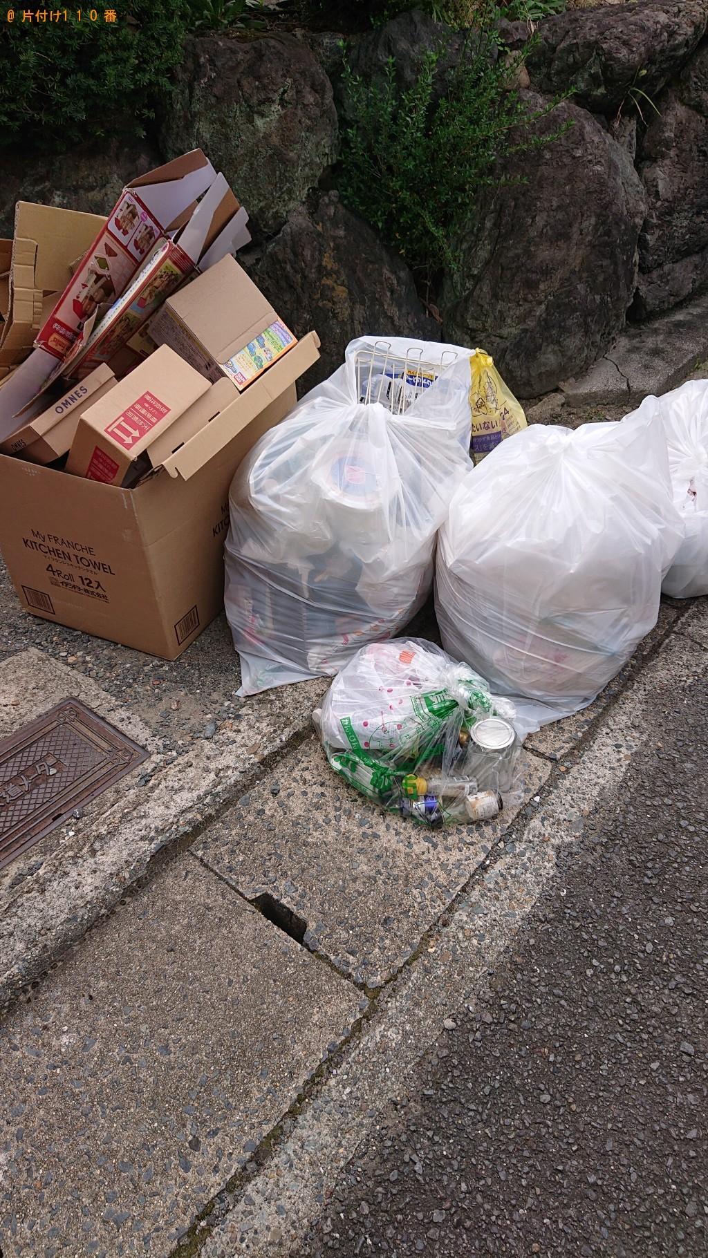 【京都市右京区】家庭ごみとダンボールの回収・処分 お客様の声