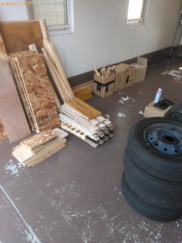 【阿南市才見町】木材、タイヤ、ハンガーラックの回収・処分 お客様の声