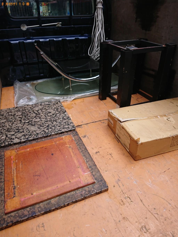 【大阪市中央区】ガラステーブル、ローテーブル、空気清浄機の回収・処分 お客様の声