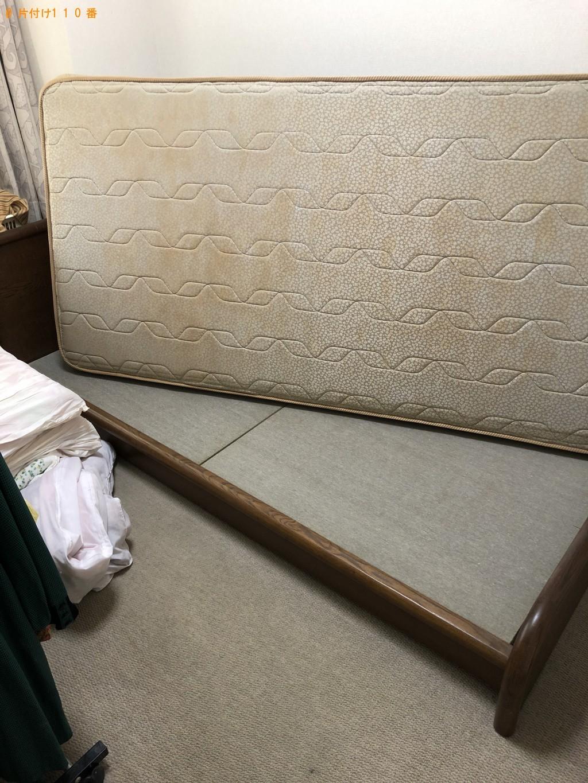 【京都市左京区】シングルベッド、シングルベッドマットレス、ガーデニングテーブルの回収・処分 お客様の声