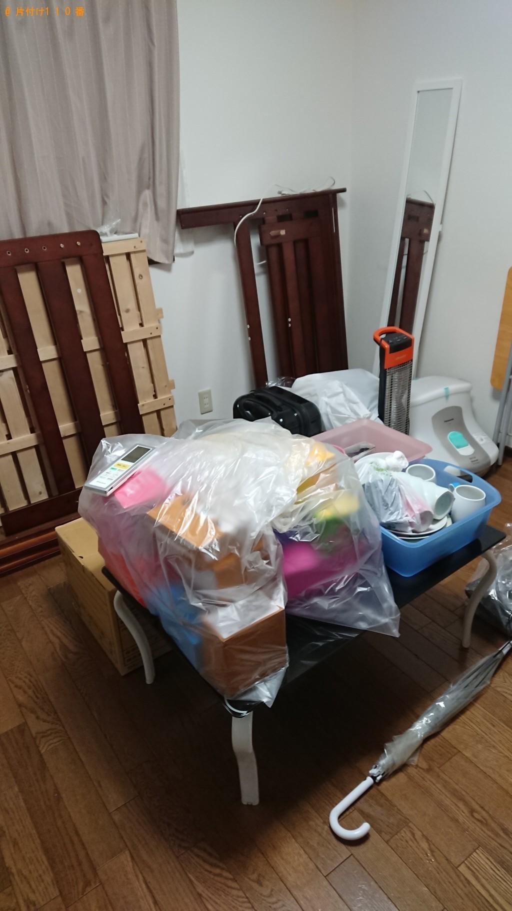 【堺市堺区】シングルベッドフレーム、ソファー、冷蔵庫等の回収・処分 お客様の声