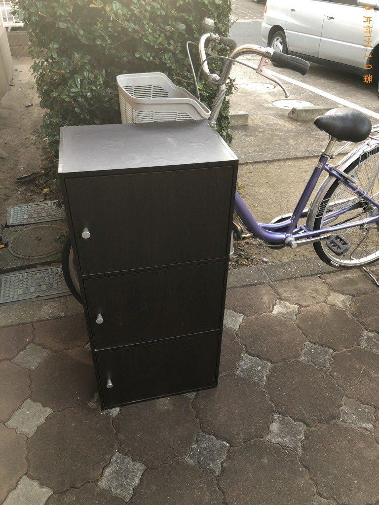 【越谷市相模町】食器棚と自転車回収のご依頼 お客様の声
