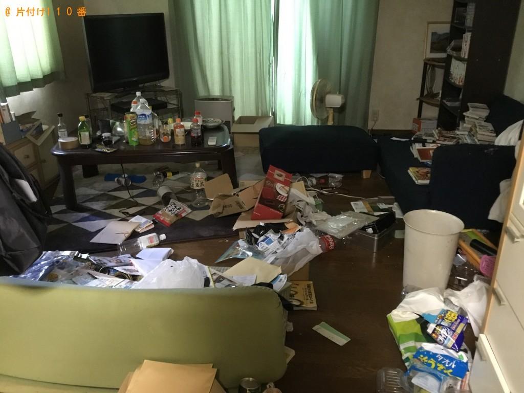【加東市】軽トラック程の不用品処分と掃除のご依頼 お客様の声