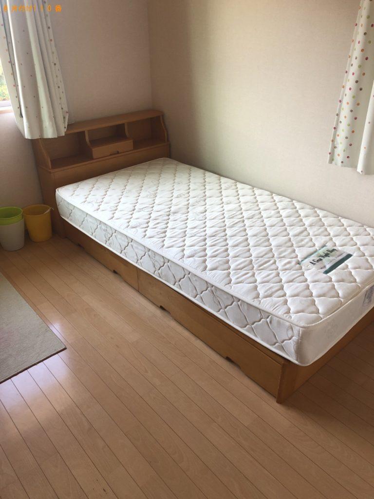 【岩国市平田】シングルベッド、学習机の出張回収・処分ご依頼