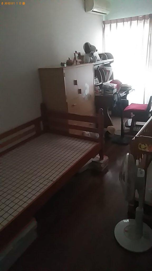 【今治市玉川町】2段ベッド枠、回転イス、学習机の回収・処分 お客様の声