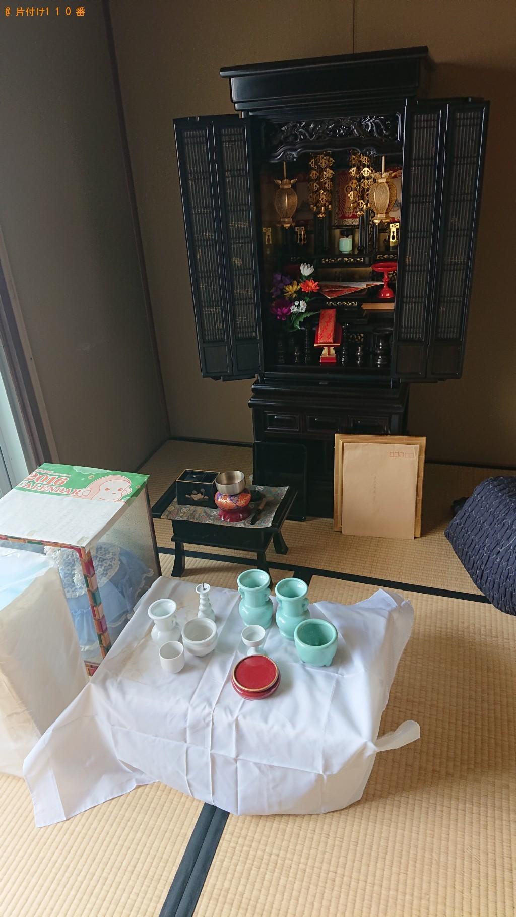 【茨木市】仏壇の回収・処分、御霊抜きのご依頼 お客様の声