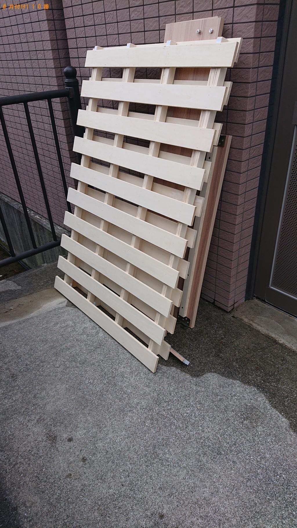 【茨木市西田中町】食器棚、ベッド枠の回収・処分 お客様の声
