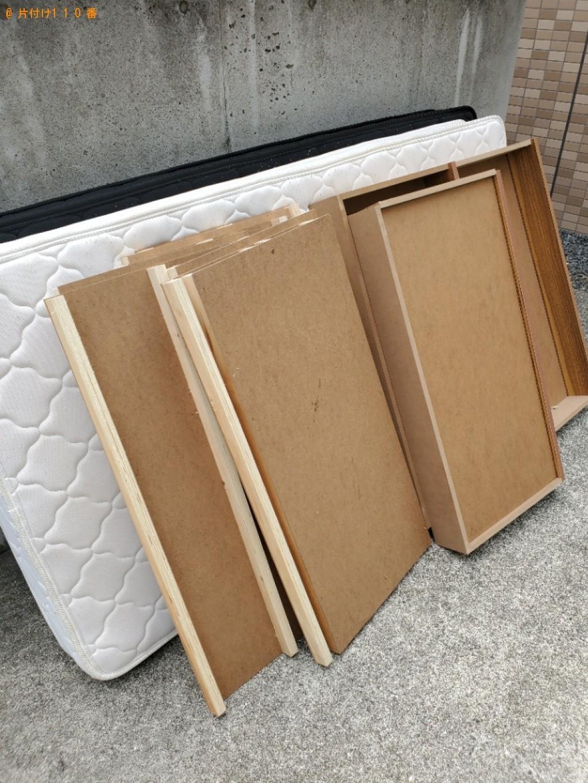 【岡山市中区】シングルベッドの出張不用品回収・処分ご依頼