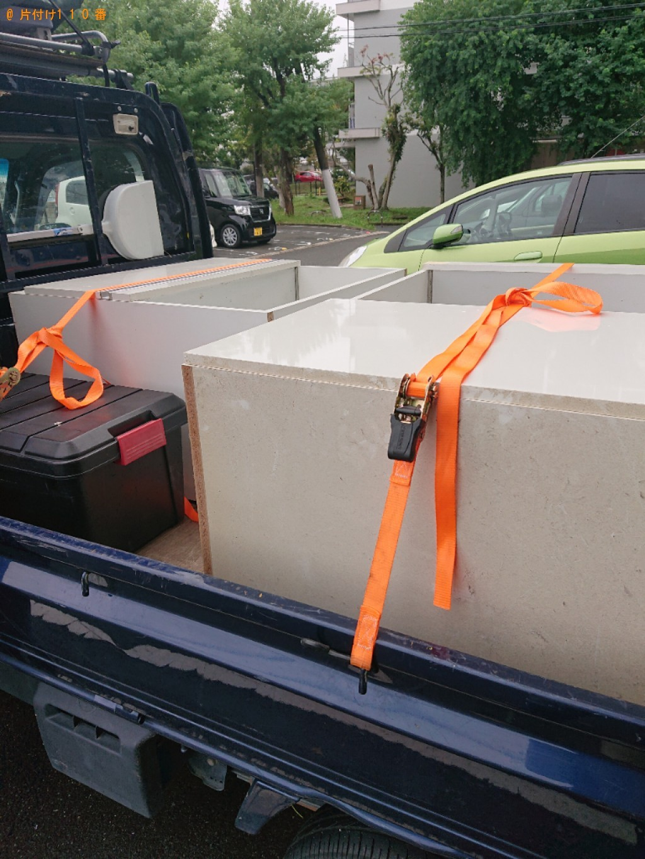 【大和郡山市野垣内町】食器棚の出張不用品回収・処分ご依頼