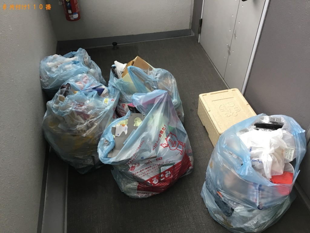 【神戸市兵庫区】45Lゴミ袋分の出張不用品回収・処分ご依頼
