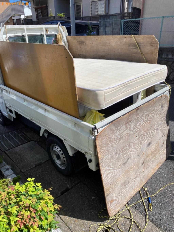 【京都市左京区】セミダブルマットレスの出張不用品回収・処分ご依頼