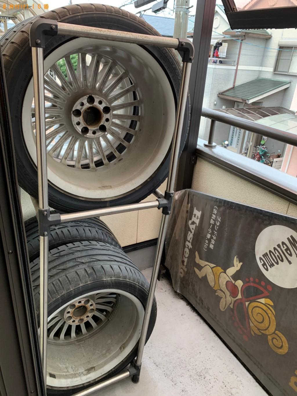 【宇治市】自動車タイヤ1本の出張不用品回収・処分ご依頼お客様の声