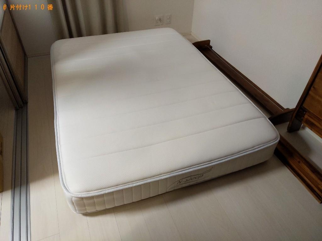 【奈良市芝辻町】ダブルベッドの出張不用品回収・処分ご依頼