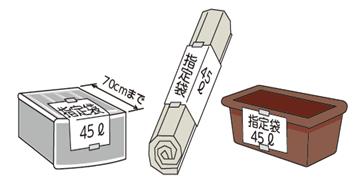 金沢市 指定袋に入らないモノの出し方