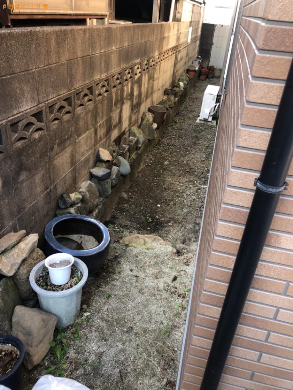 【北九州市若松区】庭石の出張回収・処分ご依頼 お客様の声