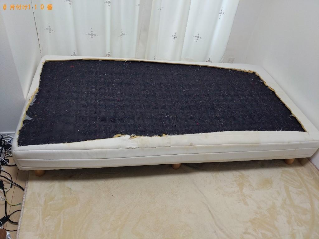 【大阪市北区】シングルベッドの出張不用品回収・処分ご依頼