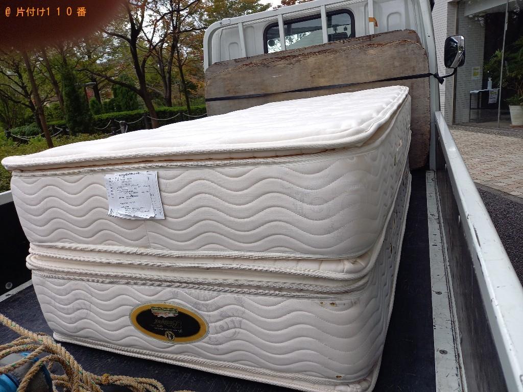 【横浜市都筑区】ベッドマットレスの出張不用品回収・処分ご依頼